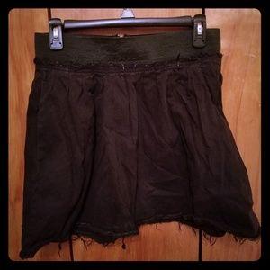 Vari Multi-Tuck Mini Skirt